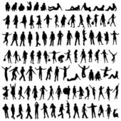 100 silhouettes — Stock Photo