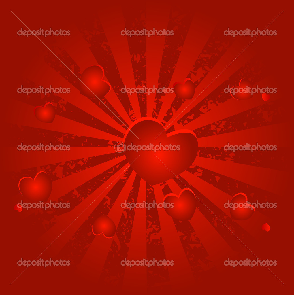 Hearts background for valentine`s day — Stock Photo #1627607