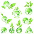 Go green planet earth maps - Stock Photo