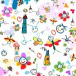 Stock Photo: Background for kids