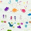 Foto de Stock  : Background for kids