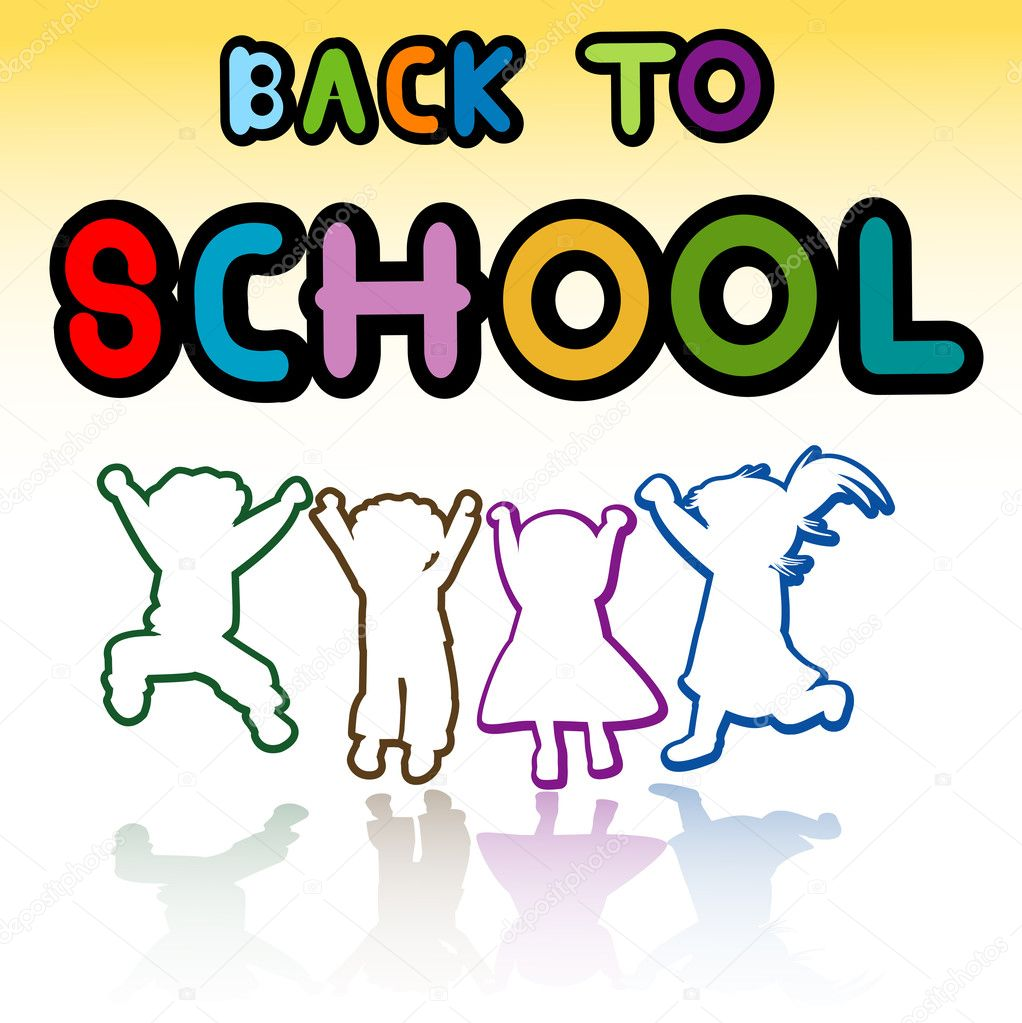 Happy kids, back to school — Stock Photo #1641894