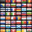 Flag web buttons - Stockfoto