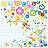 Colorful alphabet — Stock Photo