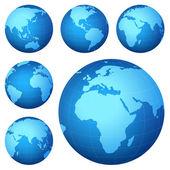 Mappa del pianeta — Foto Stock