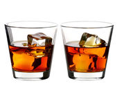 Whiskey on rocks — Stock Photo