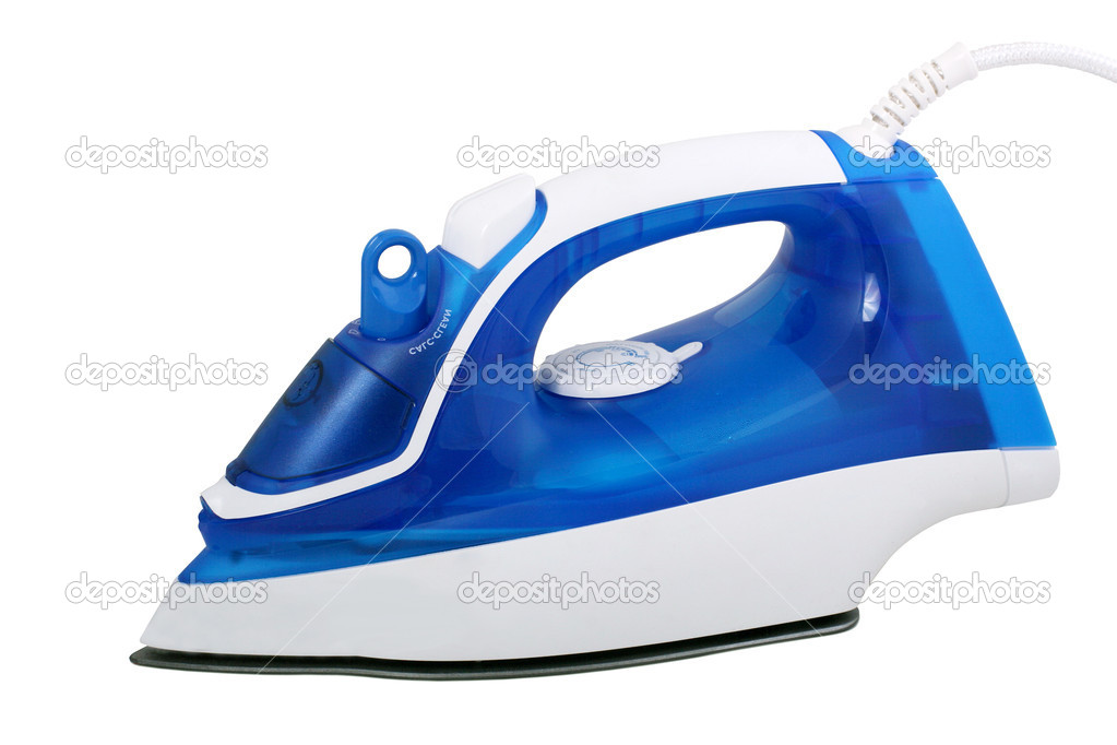 Electric steam iron isolated on white background — Stock Photo #1743774