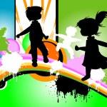 Kids silhouettes — Stock Photo #1751047