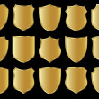 Stock Photo: Shield design set