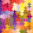 Jigsaw puzzle pattern — Stock Photo