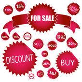 Sale stickers — Stock Photo