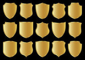 Shield design set — Stock Photo