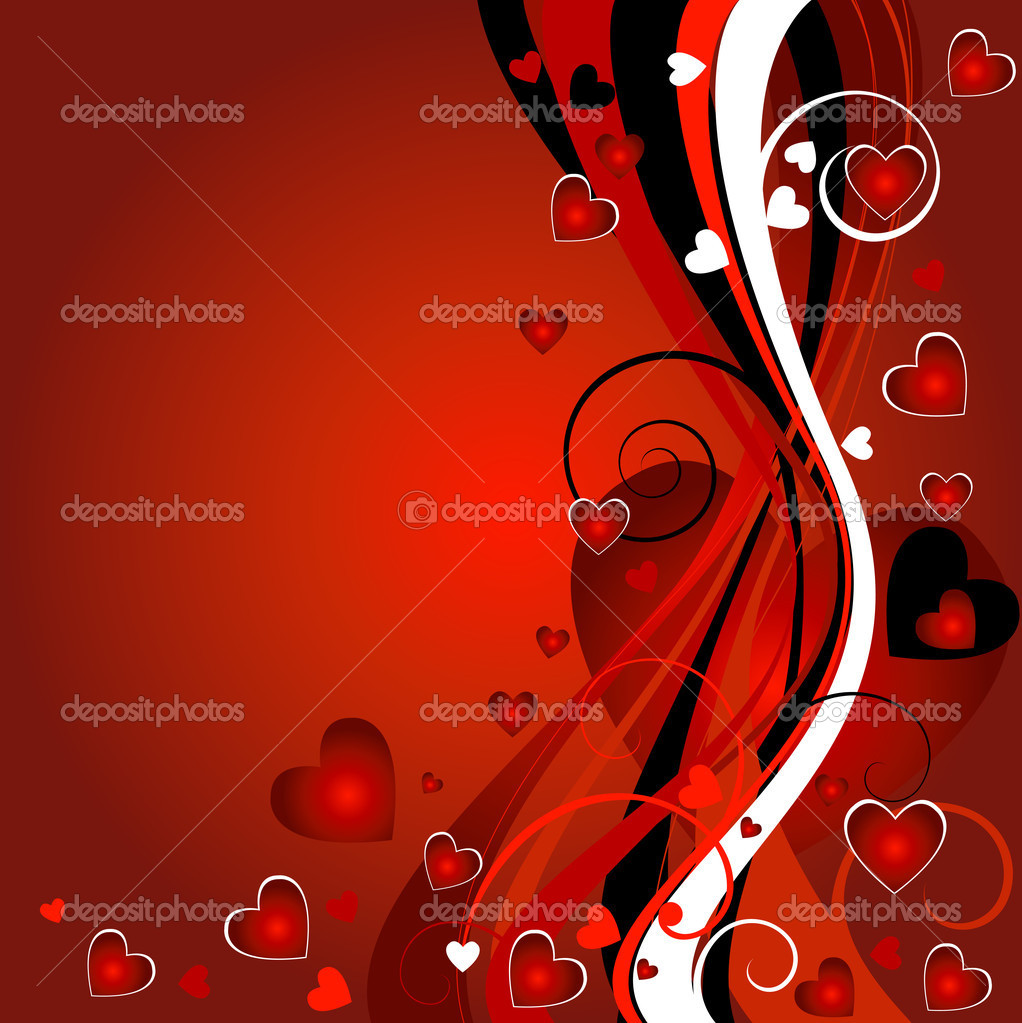 Floral heart background for the valentine`s day  Foto de Stock   #1774736