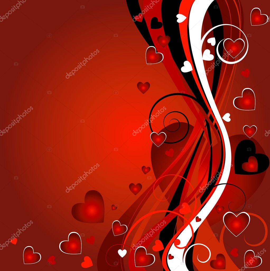 Floral heart background for the valentine`s day — Stockfoto #1774736