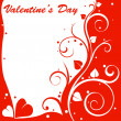 Valentine design card — Stockfoto