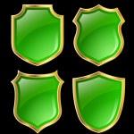 Shield design set — Stock Photo