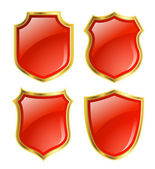 Red shields — Stock Photo
