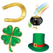 St patrick`s day icons — Stock Photo