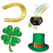 Stock Photo: St patrick`s day icons