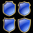 Blue shields — Stock Photo