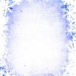 Grunge snowflakes frame — Stock Photo #2423136