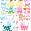 Stock Vector: Baby stuff
