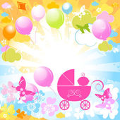 Baby carriage — Stock Vector