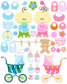 Baby stuff — Stock Vector