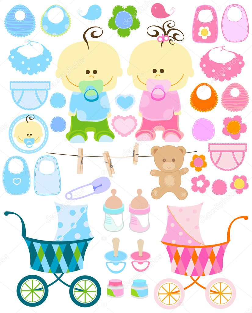 Baby stuff collection — Stock Vector #2529442