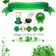 St patrick`s day icons — Stock Vector