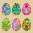 Easter eggs - Stockvectorbeeld