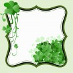 St. Patricks Day frame — Stock Vector