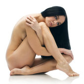 Naked sitting girl — Stock Photo