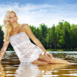 Blonde in the water — Stock Photo #1616748