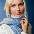 Stock Photo: Blonde girl in winter clothes
