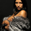 Stock Photo: Woman with furs