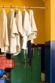 Hangers with kimonos — Stock Photo
