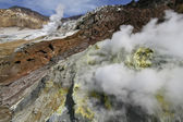Active volcano multiple sulphur sources — Stock Photo