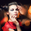 Beautiful girl with a hairdress — Stock Photo #1408011