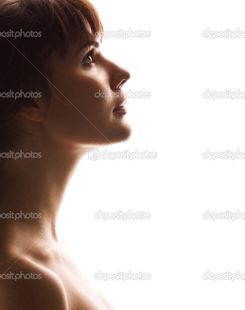 Portrait of a beautiful girl. Profile — Stock Photo #1432541