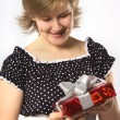 Girl with a gift — Stock Photo #1441302