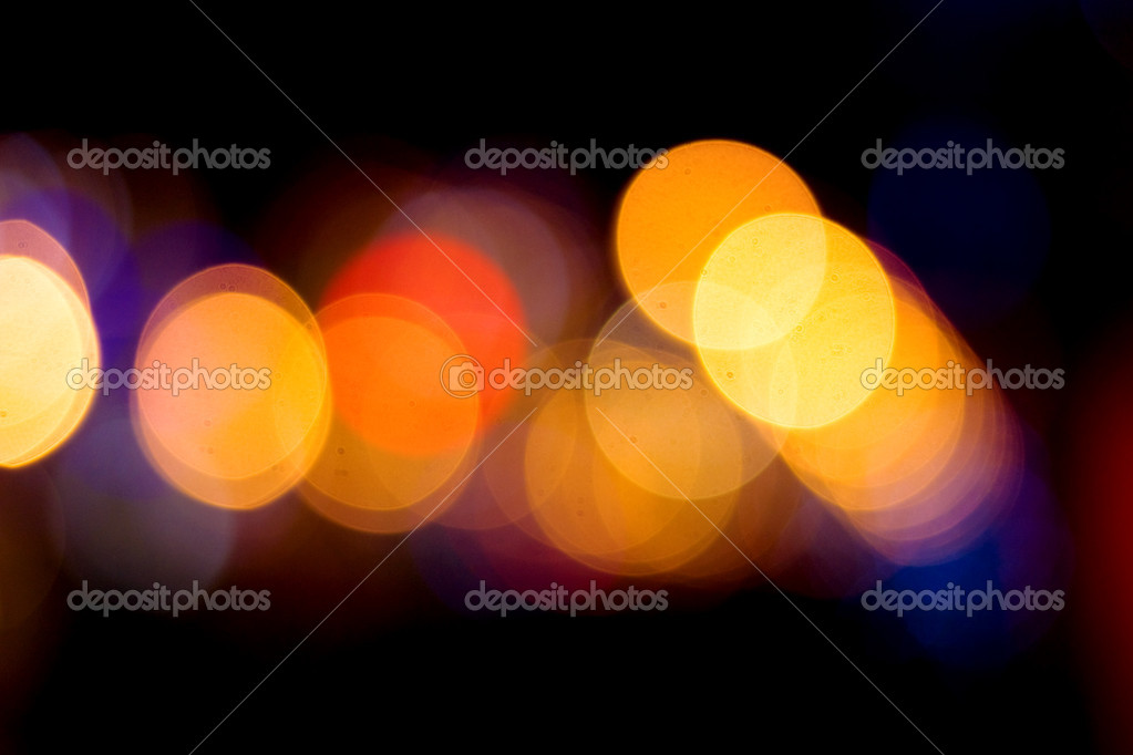 Celebratory fires, abstract background, Defocused light points  — Stock Photo #1444500