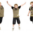 Jumping boy — Stock Photo