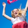 Stockfoto: Happy jumping girl