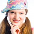 Mischievous girl — Stock Photo