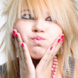 Foto Stock: Emo girl portrait
