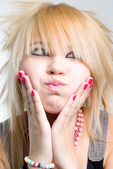 Emo girl portrait — Stockfoto