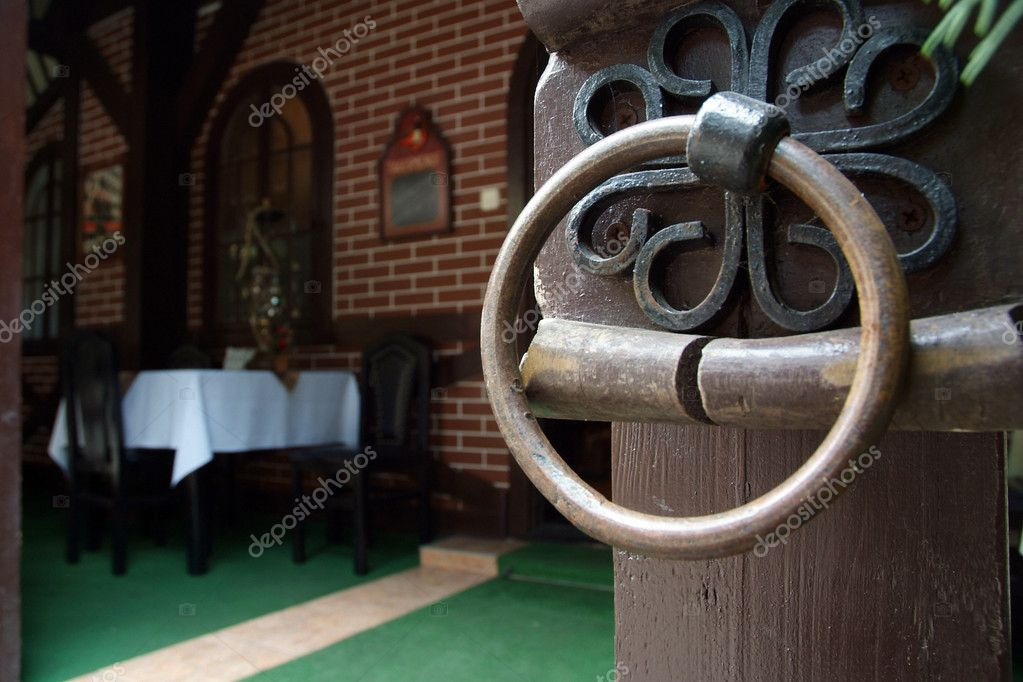 A detail of interior in european cafe — Stock Photo #1623233