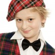 Scottish schoolboy portrait — Stock Photo