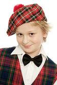 Scottish schoolboy portrait — Stock Photo